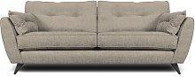 Etheredge 4 Seater Sofa Hykkon Upholstery: Linen