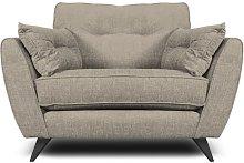 Etheredge Armchair Hykkon Upholstery: Linen
