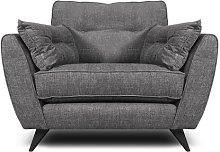 Etheredge Armchair Hykkon Upholstery: Steel