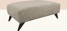 Etheredge Footstool Hykkon Upholstery: Linen