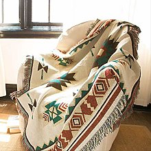 Ethnic Bohemian Knitted Throw Blanket Picnic