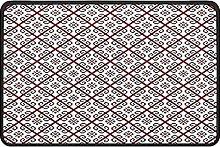 Ethnic Floral Doormat Rug Easy to Clean Non Slip