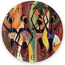 Ethnic Murals PVC Wall Clock, Silent Non-Ticking