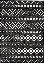 Ethnic Pattern Rug, 133 cm x 190 cm, Black