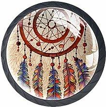 Ethnic Tribal Dreamcatcher Cabinet Door Knobs