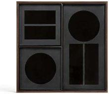 Ethnicraft - Charcoal Desk Organiser - glass |