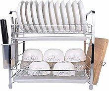 ETJar 2 Tiers Dish Drainer Rack Kitchen Washing
