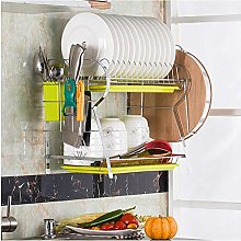 ETJar Dish Drainer Drying Rack Desk Wall-Mounted