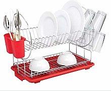 ETJar Dish Storage Drainer Rack 2 Tiers Stainless