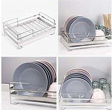 ETJar Drain Rack Dish Rack Chrome Stainless Plate