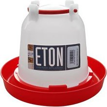 Eton Plastic Poultry Drinker (1.5L) (White/Red) -