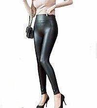 Etrustor Matt Light Women Leather Pants Spring