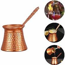 Ettzlo 330ML Turkish Coffee Pot Cip Copper Plated