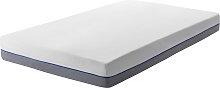 EU Single Hard Mattress 3ft White Grey Foam