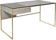 Euclid Desk Canora Grey Colour (Frame): Brass