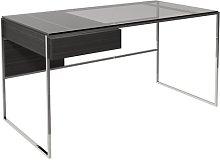 Euclid Desk Canora Grey Colour (Frame): Silver
