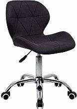 EUCO Black Desk Chair,Computer Chair Comfy Padded