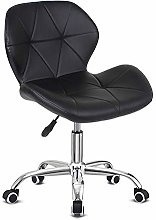 EUCO Black Desk Chair,PU Leather Computer Chair