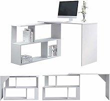 EUCO Computer Desk,White Office Desk L-Shape PC