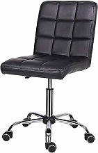 EUCO Desk Chair,Black Leather Office Chair Comfy
