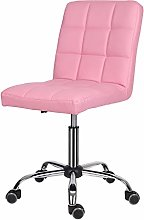 EUCO Desk chair for Home,PU Leather Pink Comfy