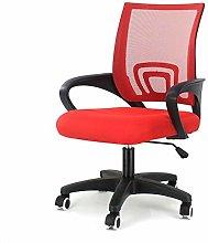 EUCO Ergonomic Office Chair Red Mesh Task Office
