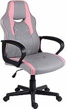 EUCO Gaming Chair Grey,Computer Racing Chair PU