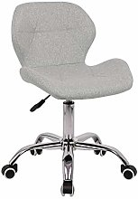 EUCO Grey Desk Chair,Comfy Fabric Computer Chair