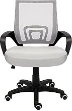 EUCO Grey Office Chair Executive Mesh Chair For