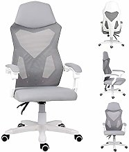 EUCO Grey Office Chair,Reclining Computer Desk