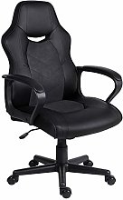 EUCO Office Chair Black,Computer Desk Chair Racing