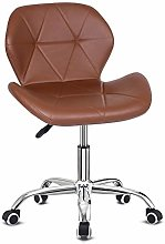 EUCO Office Chair,Brown PU Leather Desk Chair for