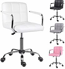 EUCO Office Chair,White Desk Chair for Home Comfy