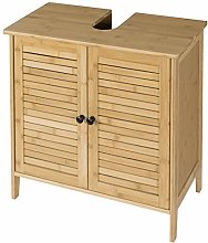 EUGAD 100% Bamboo Under Sink Cabinet Basin Unit