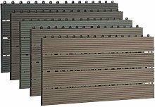 EUGAD 12 x WPC Interlocking Decking Tiles 30x60cm