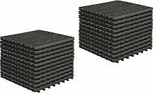 EUGAD 22 x WPC Interlocking Decking Tiles 30x30cm