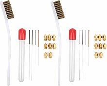 Eujgoov 2 Set Nozzle Cleaning Needle Brush Kit for