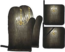 EUlemon Oven Mitts and Pot Holders Sets of