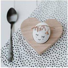 Eulenschnitt - Egg cup heart