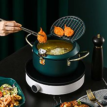 EUNEWR Mini Deep Fryer Pan,Housewares Japanese
