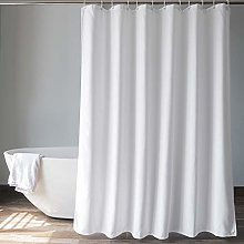 EurCross Grey Waffle Shower Curtains Extra Long 180 X 210cm Drop Mould Resistant