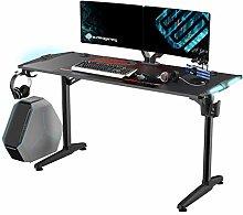 EUREKA ERGONOMIC Gaming Desk with RGB Lights