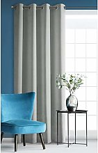 Eurofirany Blackout Velvet Curtain Light Grey