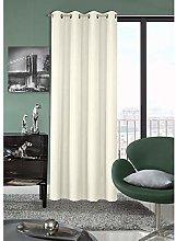 Eurofirany Creamy Curtain with Eyelets Plain Matt