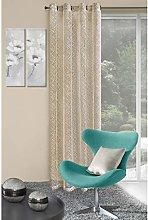 Eurofirany Curtain, 100% polyester, Beige, 0.02 x