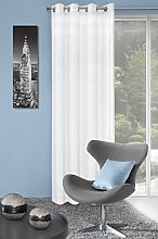 Eurofirany Curtain, 100% polyester, White, 0.02 x