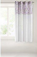 Eurofirany Curtain 140 x 160 cm White / Purple