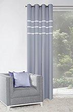 Eurofirany Curtain, Fabric, Gray, 140 x 250 x 0,3