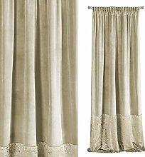 Eurofirany Curtain, Polyester, Beige, 140 x 270 cm