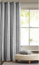 Eurofirany Curtain, Polyester, Silver/Grey,